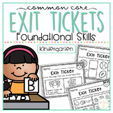 Common Core Exit Tickets: Kindergarten Reading Foundational Skills