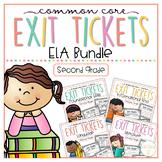 Common Core Exit Tickets: Second Grade ELA Bundle
