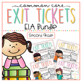 Common Core Exit Tickets: Second Grade ELA Bundle