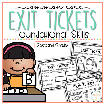 Common Core Exit Tickets: Second Grade Foundational Skills