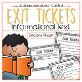 Common Core Exit Tickets: Second Grade Informational Text