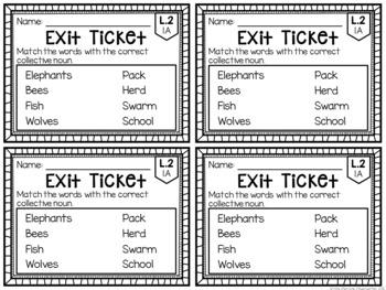 Common Core Exit Tickets: Second Grade Language