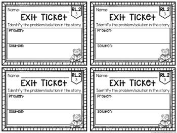 Common Core Exit Tickets: Second Grade Literature