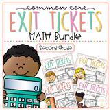 Common Core Exit Tickets: Second Grade Math Bundle