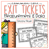 Common Core Exit Tickets: Second Grade Measurement & Data