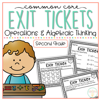 Common Core Exit Tickets: Second Grade Operations & Algebr