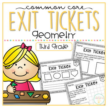 Common Core Exit Tickets: Third Grade Geometry