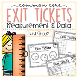 Common Core Exit Tickets: Third Grade Measurement & Data