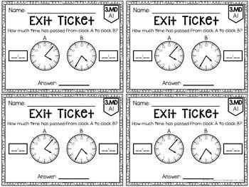 Common Core Exit Tickets: Third Grade Measurement & Data