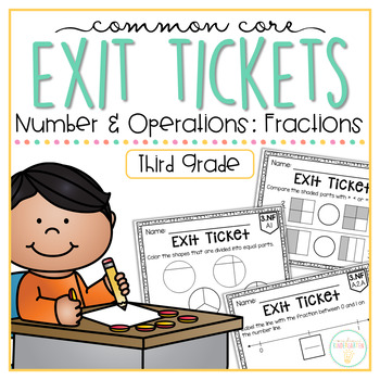 Common Core Exit Tickets: Third Grade Number & Operations: Fractions
