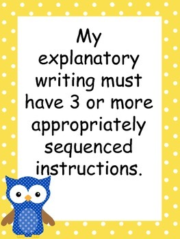 Common Core Explanatory Writing Standards
