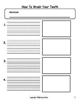 """Common Core """"How to"""" Explanatory Writing W.1.7"""