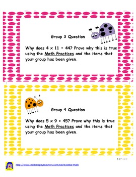 Common Core Exploration of Multplication Facts and Long Division