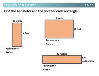 Common Core Explore 4.md.2 measurement story problems