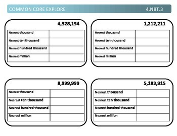 Common Core Explore 4.nbt.3 Mastering Rounding