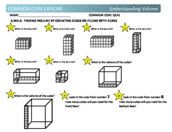 Common Core Explore Grade 5 Understanding Volume
