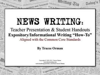 Expository News Writing Tutorial & Activities