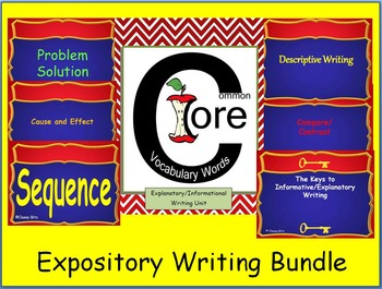 Common Core Expository Writing Bundle