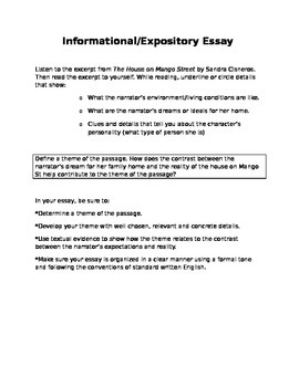 Common Core Expository/Informational Essay