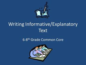 Common Core Expository/Informational Writing Resources for grades 6-8