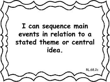 Common Core Extended Standards ELA 6-8 I Can Statement Posters