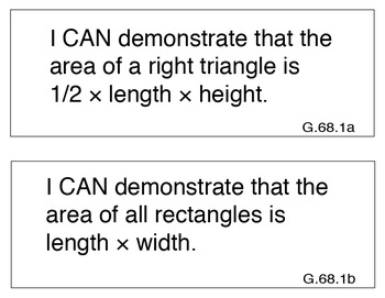 """Common Core Extended Standards """"I CAN"""" Placards 6-8 Math S"""