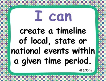 "Common Core Extended Standards ""I CAN"" Statements 3-5 Social Studies Special Ed"