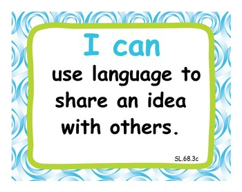 """Common Core Extended Standards """"I CAN"""" Statements 6-8 Lang Art Special Education"""