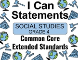 2018 C Core Extended Standards I CAN Statements Gr. 4 Social Studies Special Ed