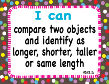"Common Core Extended Standards ""I CAN"" Statements K-2 Math for Special Education"