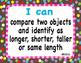 "Common Core Extended Standards ""I CAN"" Statements K-2 Math"