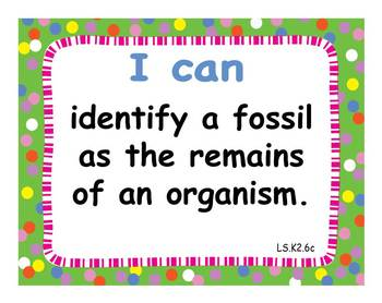 "Common Core Extended Standards ""I CAN"" Statements K-2 Science Special Education"