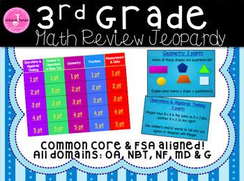 Common Core FSA Math Review Game