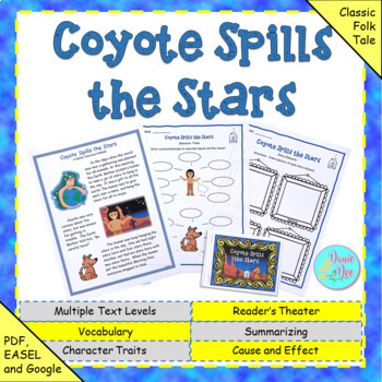 """Fables, Folktales, and Fairy Tales:  """"Coyote Spills the Stars"""" Close Read"""