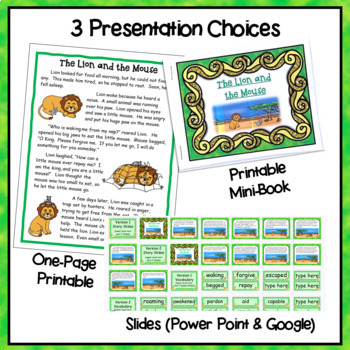 """Fables, Folktales, and Fairy Tales:  """"The Lion and the Mouse"""" Close Read"""