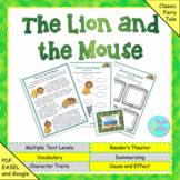"""Aesop's Fable: """"The Lion and the Mouse"""" (Google Slides, Tp"""