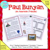 """Fables, Folktales, and Fairy Tales:  """"The Story of Paul Bunyan"""" Close Read"""