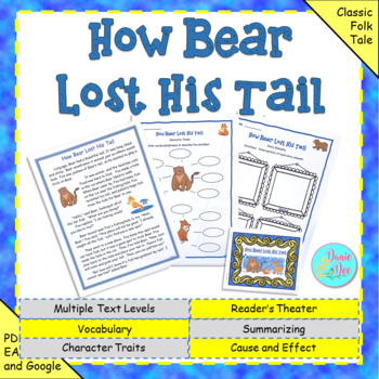 """Fables, Folktales, and Fairy Tales:  """"How Bear Lost His Tail"""" Close Read"""