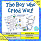 """Aesop's Fable: """"The Boy Who Cried Wolf"""" (Google Slides, Tp"""