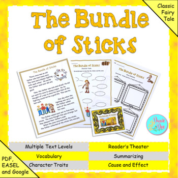 """Fables, Folktales, and Fairy Tales:  """"The Bundle of Sticks"""" Close Read"""