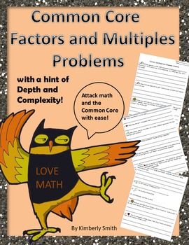 Common Core Factors and Multiples Problems