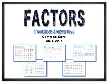 Common Core Factors of Numbers CC.4.OA.B.4