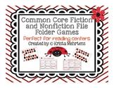 Common Core Fiction and Nonfiction File Folder Games