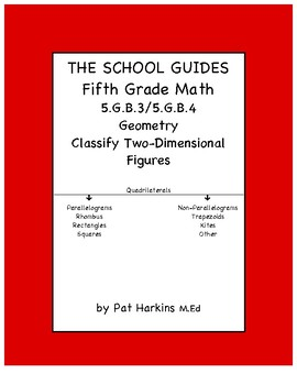 Common Core Fifth Grade Classify Two-Dimensional Figures 5.G.B.3 & 5.G.B.4