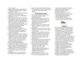 Common Core Fifth Grade Math Parent Brochure