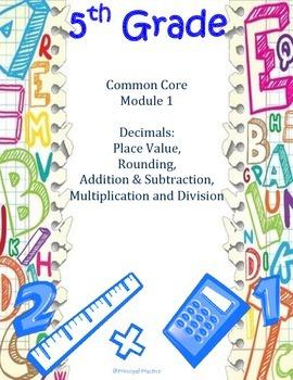 5th Grade Module 1 Bundle on Decimals