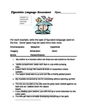 Common Core Figurative Language Assessment for RL5.4 or RL4.4