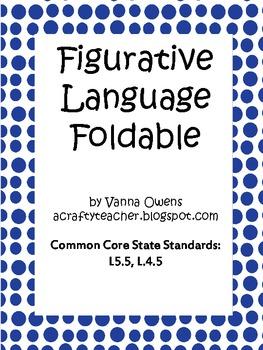 Common Core Figurative Language Foldable