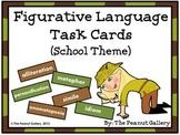 Figurative Language Scoot/Task Cards (School Theme)