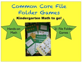 Common Core File Folder Games- Kindergarten